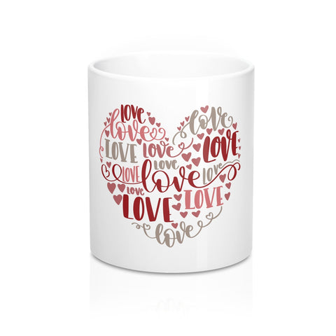 Love Heart Ceramic 11oz Mug - Inspired By Savy