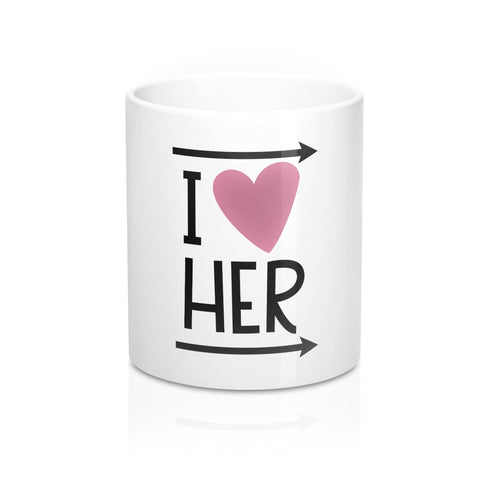I Love Her 11oz Ceramic Mug - Inspired By Savy