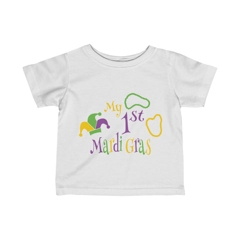 My 1st Mardi Gras Infant Fine Jersey Tee - Inspired By Savy
