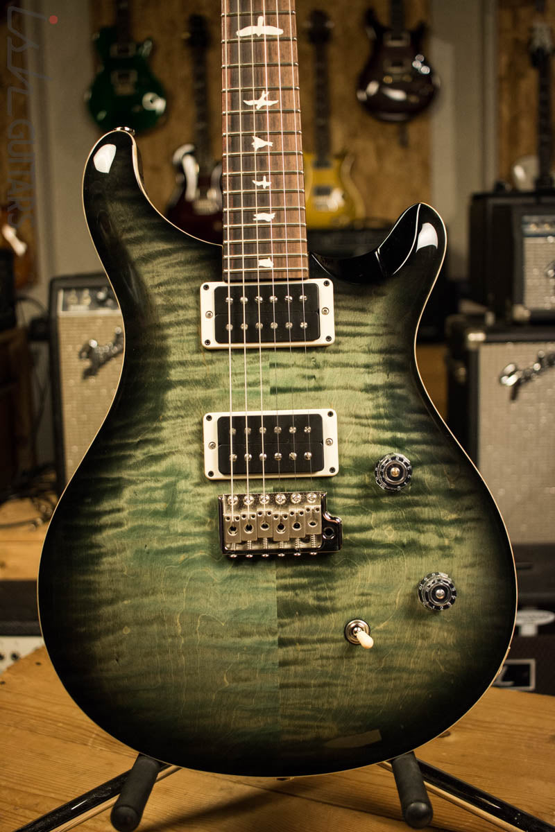 Paul Reed Smith PRS CE24 Custom Color Faded Trampas Green Smokeburst