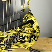 Dingwall Combustion NG-2 5-String Multiscale Bass Ferrari Yellow Swirl Finish
