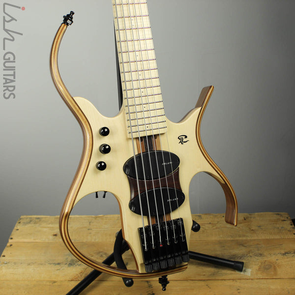 Paul Lairat Stega 6 Headless Figured Maple Fretboard Bass Guitar
