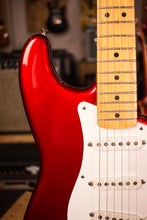 1985 Fender Stratocaster 57 Reissue AVRI Fullerton Candy Apple Red Maple Fretboard