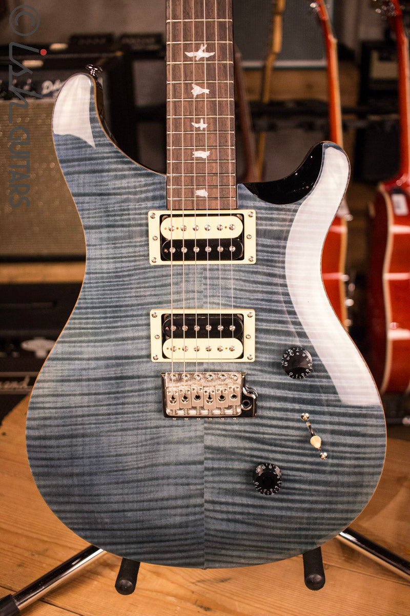 2017 PRS Paul Reed Smith SE Custom 24 Whale Blue Flamed Maple