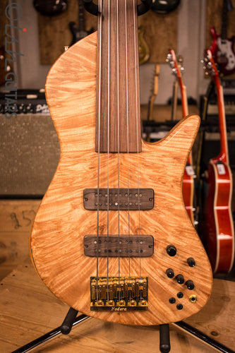 Fodera Emperor II Singlecut Custom Elite Neck Through 5 String Fretless Bass