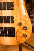 Spector NS-4 Bass Natural Spalted Maple Bass Player Live Display Aguilar