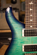 Paul Reed Smith PRS CE24 Custom Color Trippy Aqua Burst Natural Back