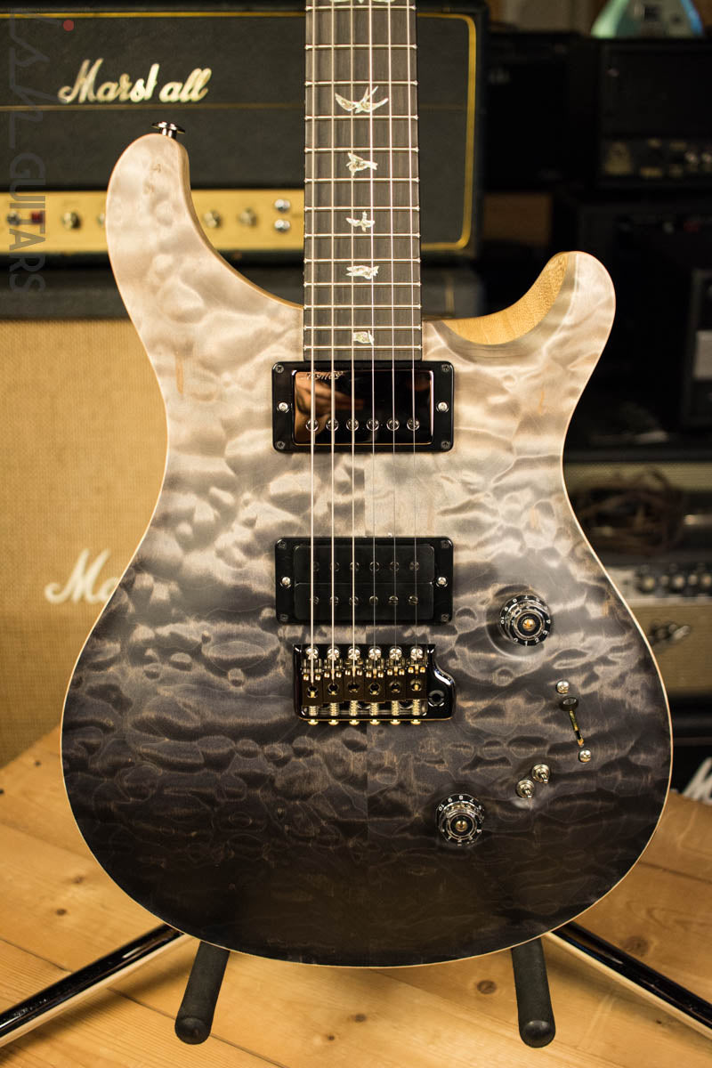 2018 Paul Reed Smith Wood Library Custom 24-08 Gray Black Fade Quilted Maple Top Korina Body and Neck
