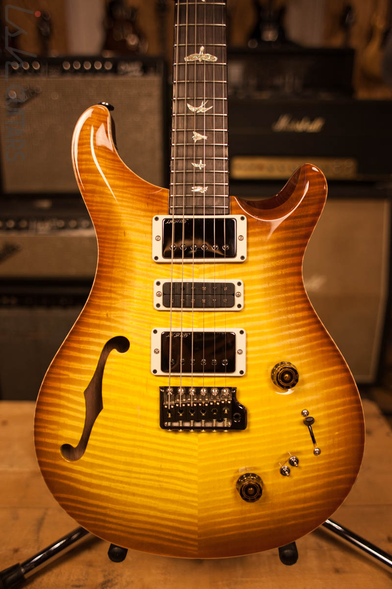2018 Paul Reed Smith Special 22 Semi Hollow Wood Library Livingston Lemondrop
