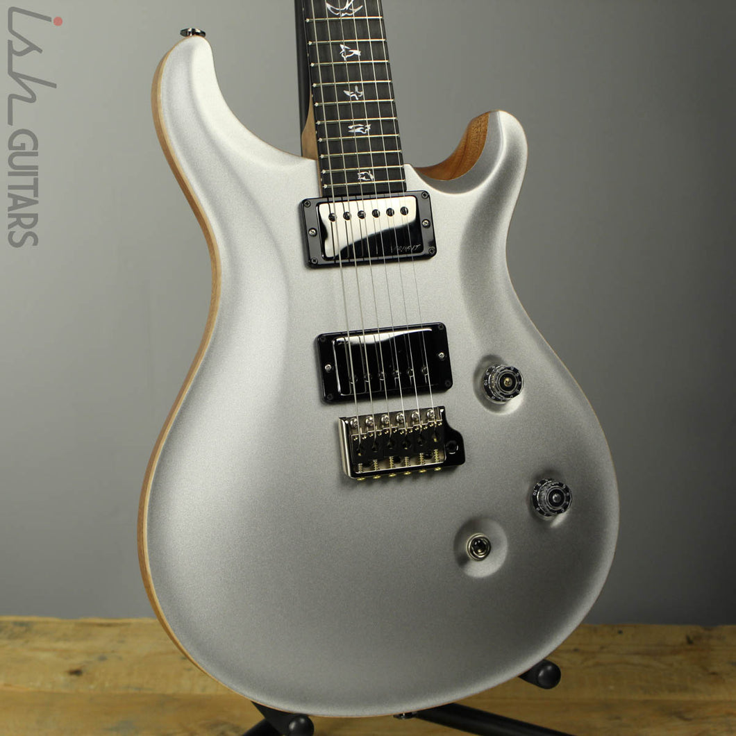 PRS Paul Reed Smith Wood Library Custom 24 Platinum Metallic Silver (DEMO VIDEO)