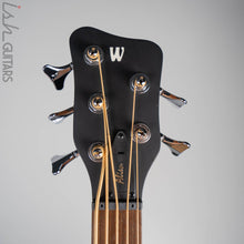 2020 Warwick Alien 5 String Acoustic Bass Guitar Natural Transparent Satin