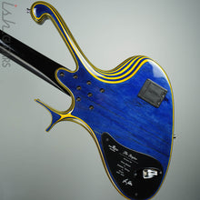 Ritter Raptor 4 String Bass Guitar Blue Yellow High Density Ply