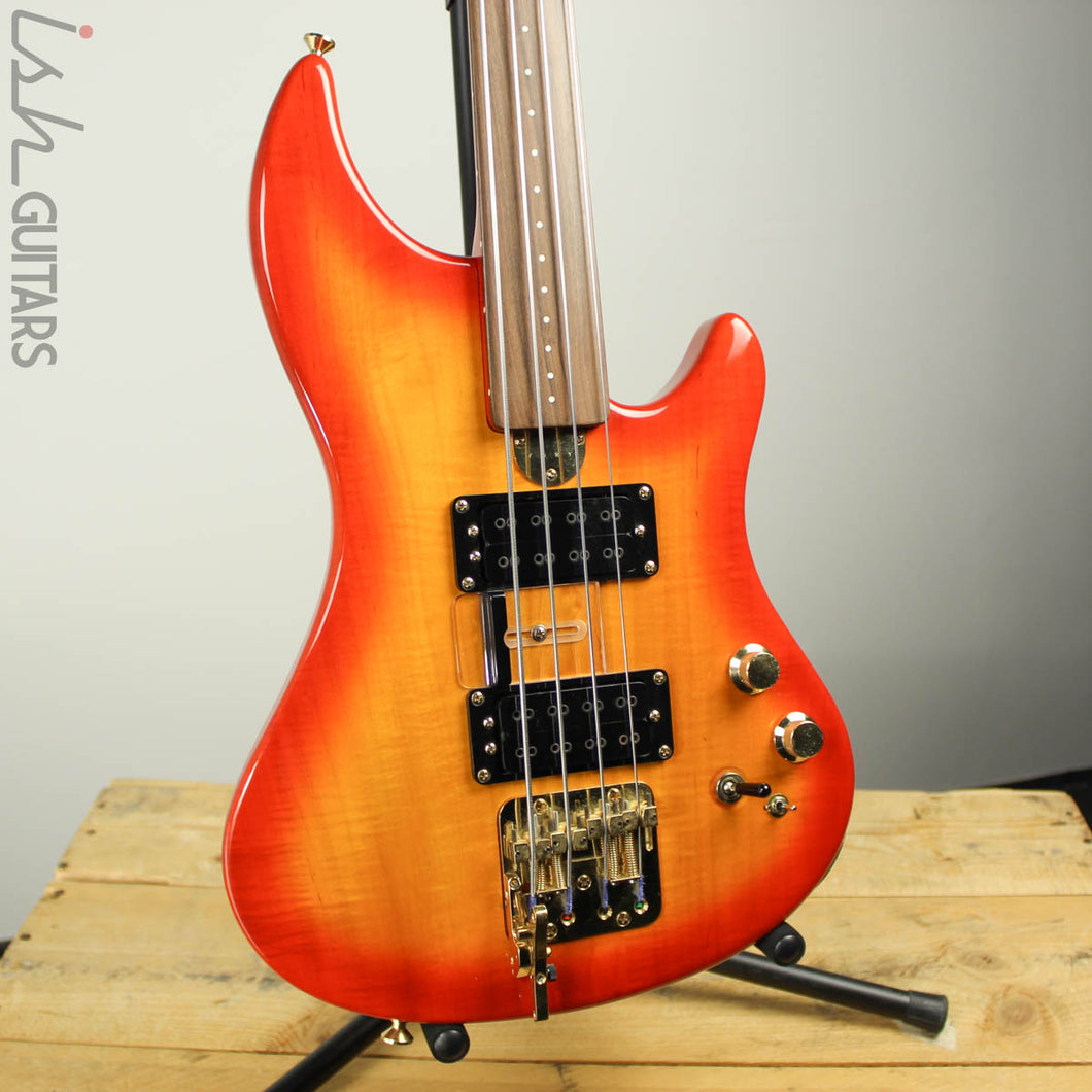 2000's Fury Tornado Fretless Signed Cherry Sunburst