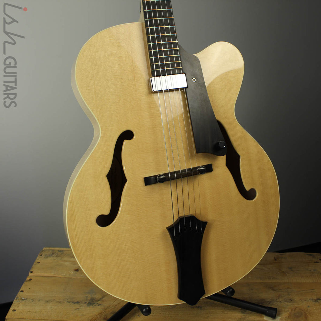 2016 Galloup School of Guitar Student Archtop Jazz Electric Guitar Natural