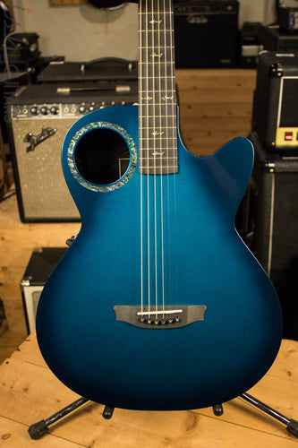 RainSong Co-WS1005NSM Concert Series Acoustic Electric Guitar Marine Blue