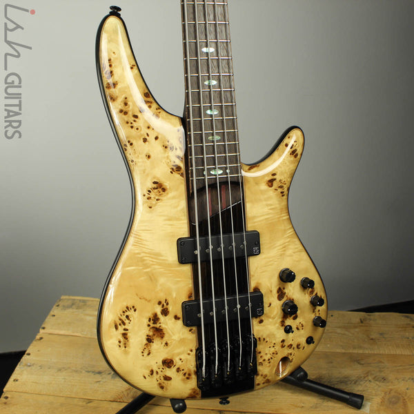 2017 Ibanez 1705BE 5-String Bass Poplar Burl