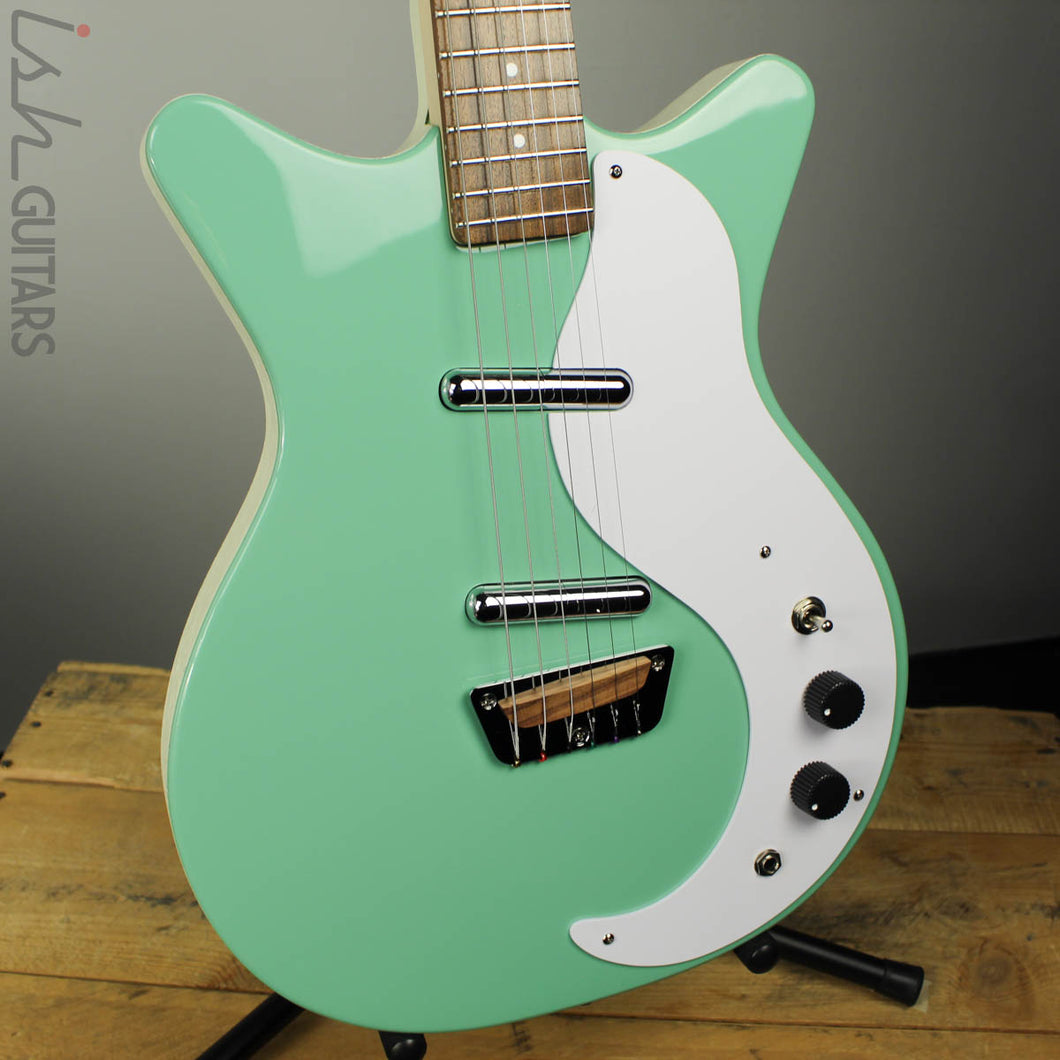 Danelectro Stock 59 Aqua Solidbody Electric Guitar (DEMO VIDEO)