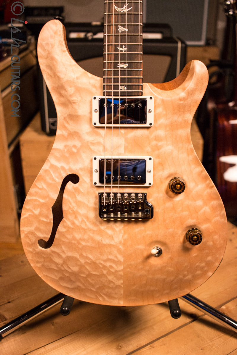 Paul Reed Smith PRS Custom 24 Semi-Hollow Wood Library Quilt Top Natural