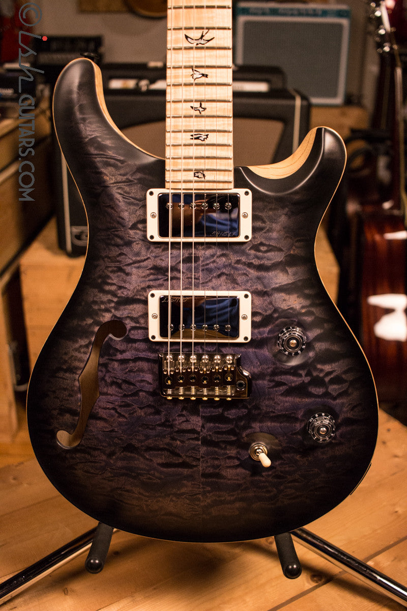 Paul Reed Smith PRS Custom 24 Semi-Hollow Wood Library Quilt Swamp Ash Purple Mist