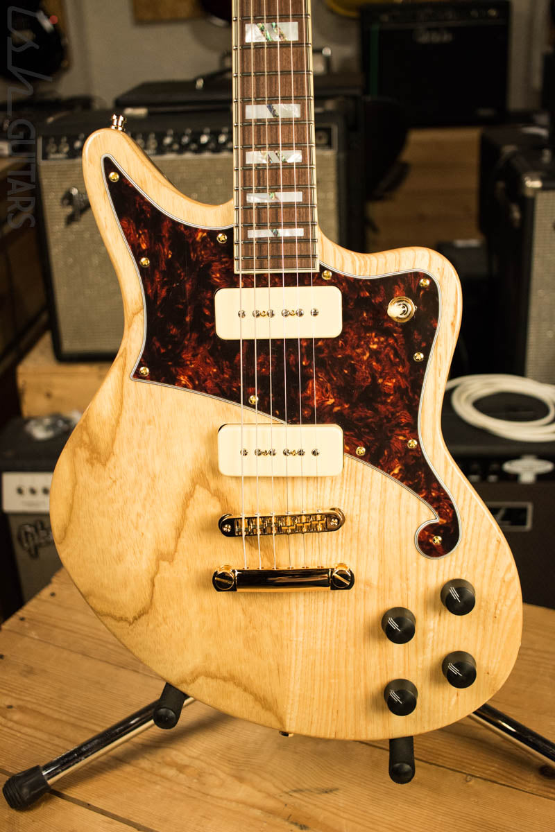 D'Angelico Deluxe Bedford Swamp Ash Electric Natural Finish