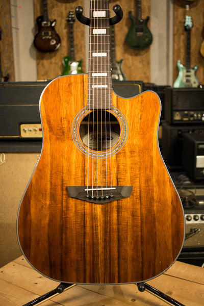 D'Angelico Premier Bowery Koa Acoustic Electric Guitar