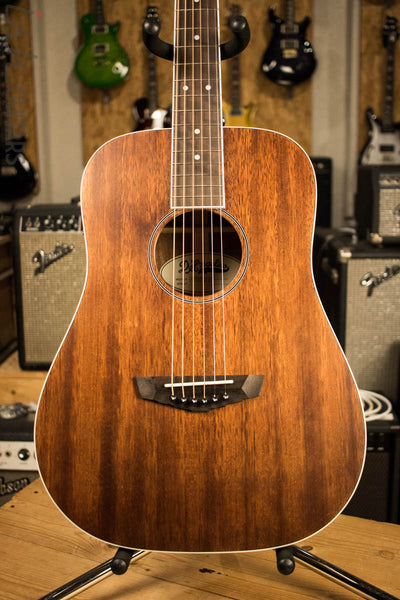 D'Angelico Premier Niagara Acoustic Guitar Natural Mahogany Finish