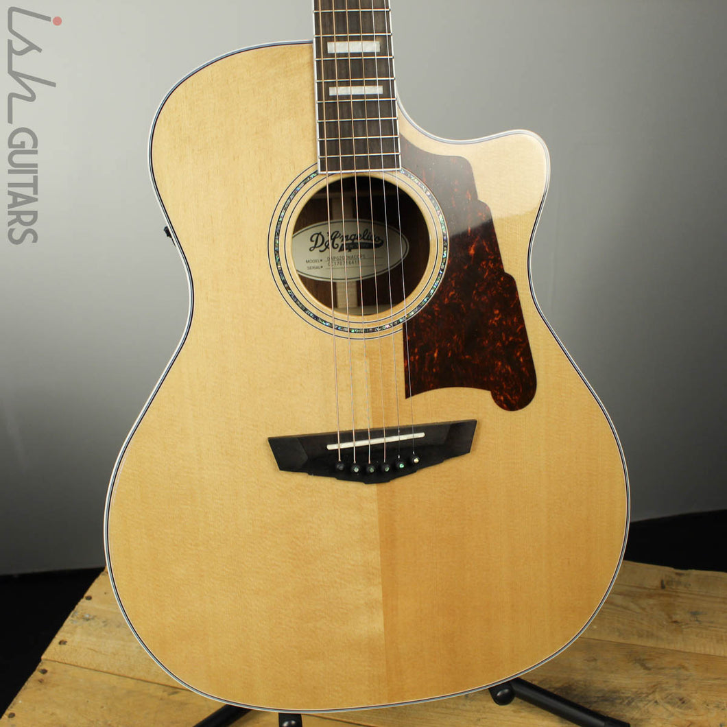 D'angelico Premier Gramercy Natural Acoustic Electric Guitar DAPG200 Natural