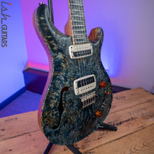 PRS Paul Reed Smith Private Stock 408 Semi Hollow Poplar Burl Triple Faded Indigo