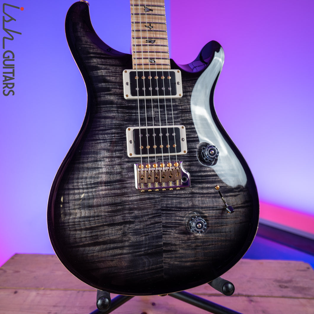 2017 Paul Reed Smith PRS Custom 24 10 Top Charcoal Burst Maple Neck Experience Guitar