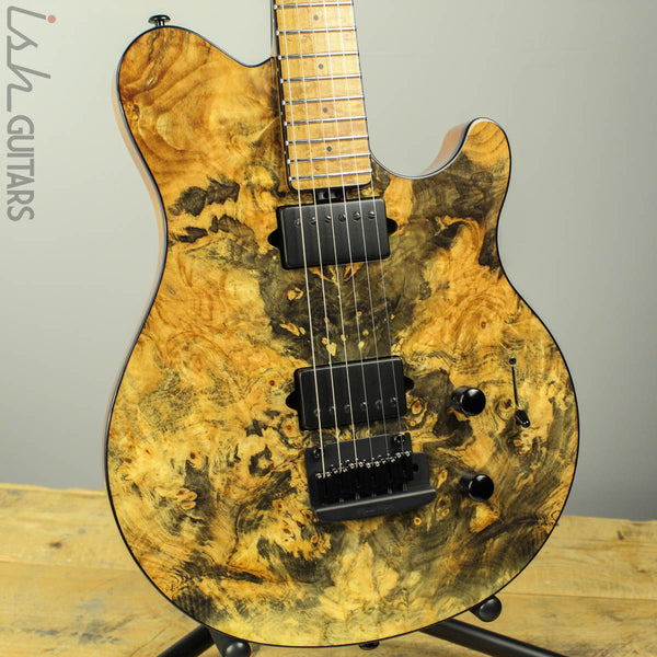 2017 Ernie Ball Music Man BFR Axis Super Sport Buckeye Burl