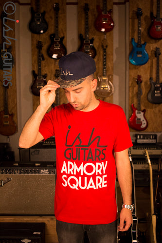 Ish Guitars Armory Square Red Tee Shirt