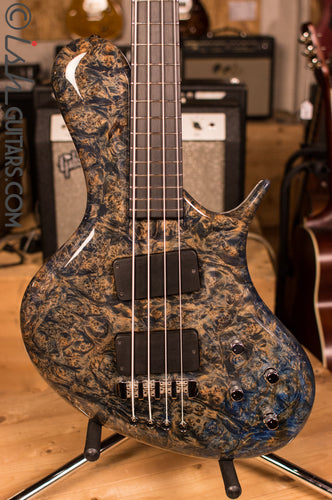 Ritter R8 Singlecut Bass Guitar Solid Maple Burl