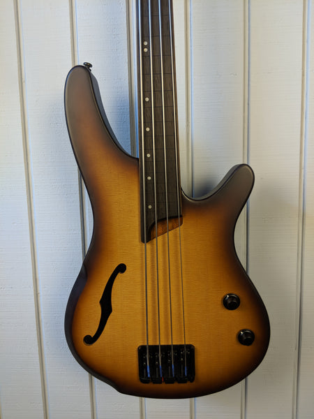 2018 Ibanez SRH500FNNF Fretless Natural Brown Burst Flat
