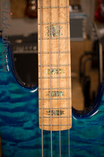 USA Spector Coda Deluxe P Precision Bass Bahama Blue Quilted Maple