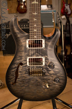 Paul Reed Smith PRS Custom 24 Semi-Hollow Wood Library Quilt Top Charcoal Burst