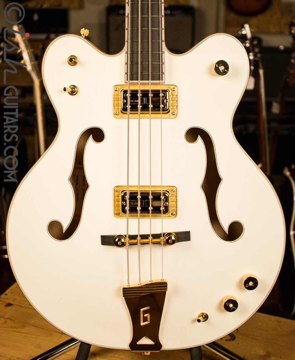 0822f1b38bfc69 Gretsch G6136LSB White Falcon Bass Store Demo – Ish Guitars