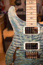 Paul Reed Smith PRS Custom 24 Semi-Hollow Wood Library Quilt Swamp Ash Aquableux