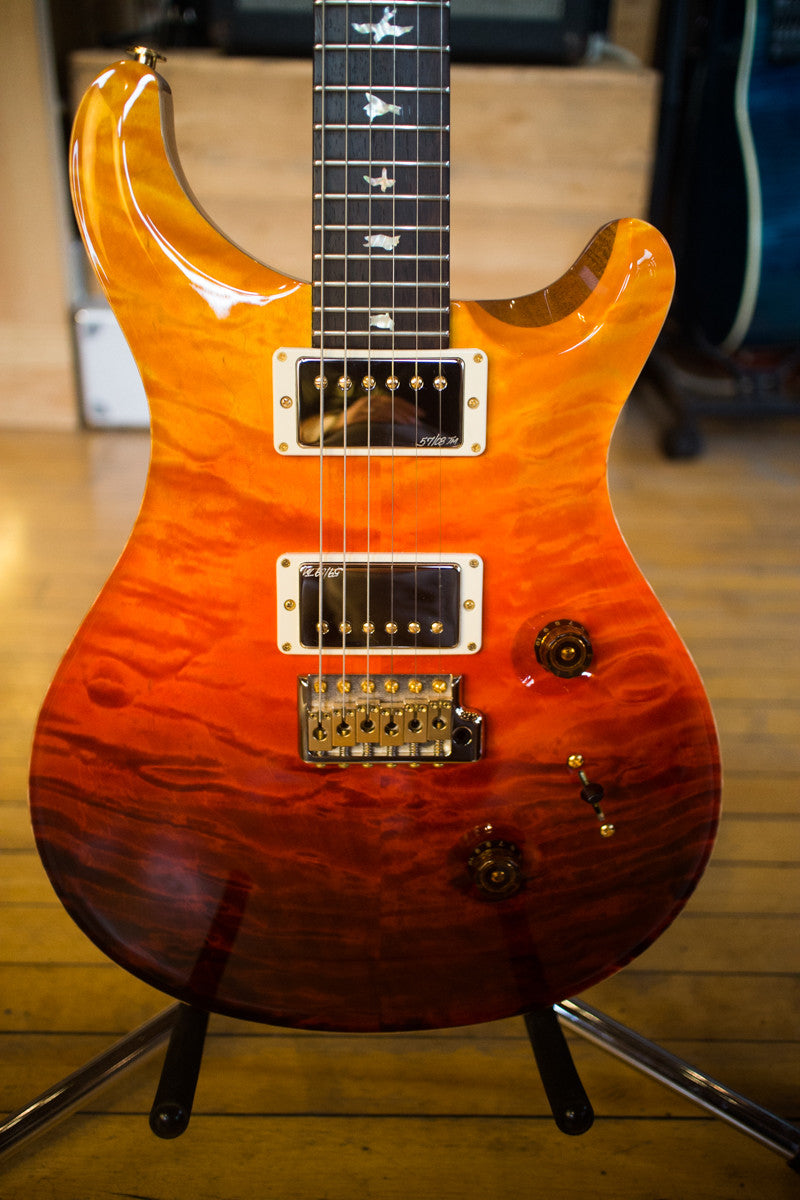 Paul Reed Smith PRS Custom 24 Wood Library Quilt 2013 Fade Brazilian Rosewood Fretboard