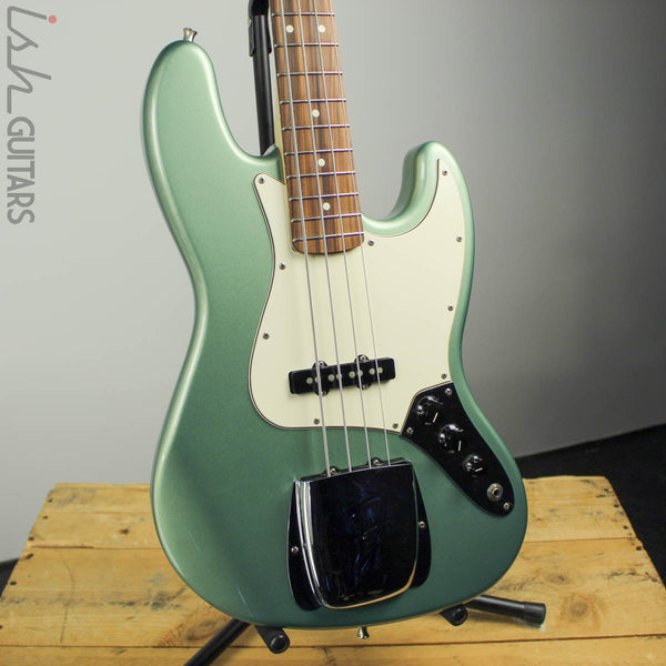 2004 Fender Jazz Bass Metallic Green 2018 Fender Neck