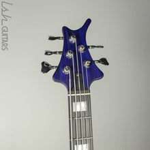 Ritter Cora 5 String Bass Guitar Sandblasted Blue Ash Body Block Inlays