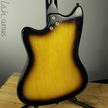 1960s Harmony Bobkat H15V Electric Guitar Sunburst w/ Vibrato and OHSC