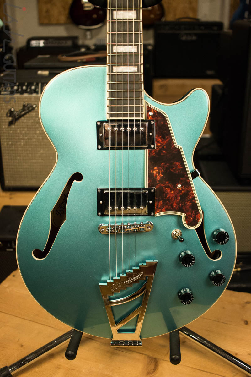 D'Angelico Premier Series SS Semi-Hollowbody Electric Guitar with Stairstep Tailpiece Ocean Turquoise