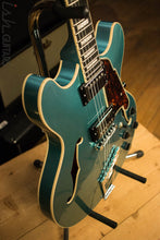 D'angelico Premier DC Ocean Turquoise Semi-Hollow Double Cutaway Electric Guitar