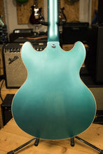 Dangelico Premier DC Ocean Turquoise Semi-Hollow Double Cutaway Electric Guitar