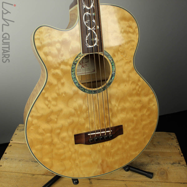 Michael Kelly Dragonfly 4 Left Hand Acoustic Bass Natural MKDF5FLLHN