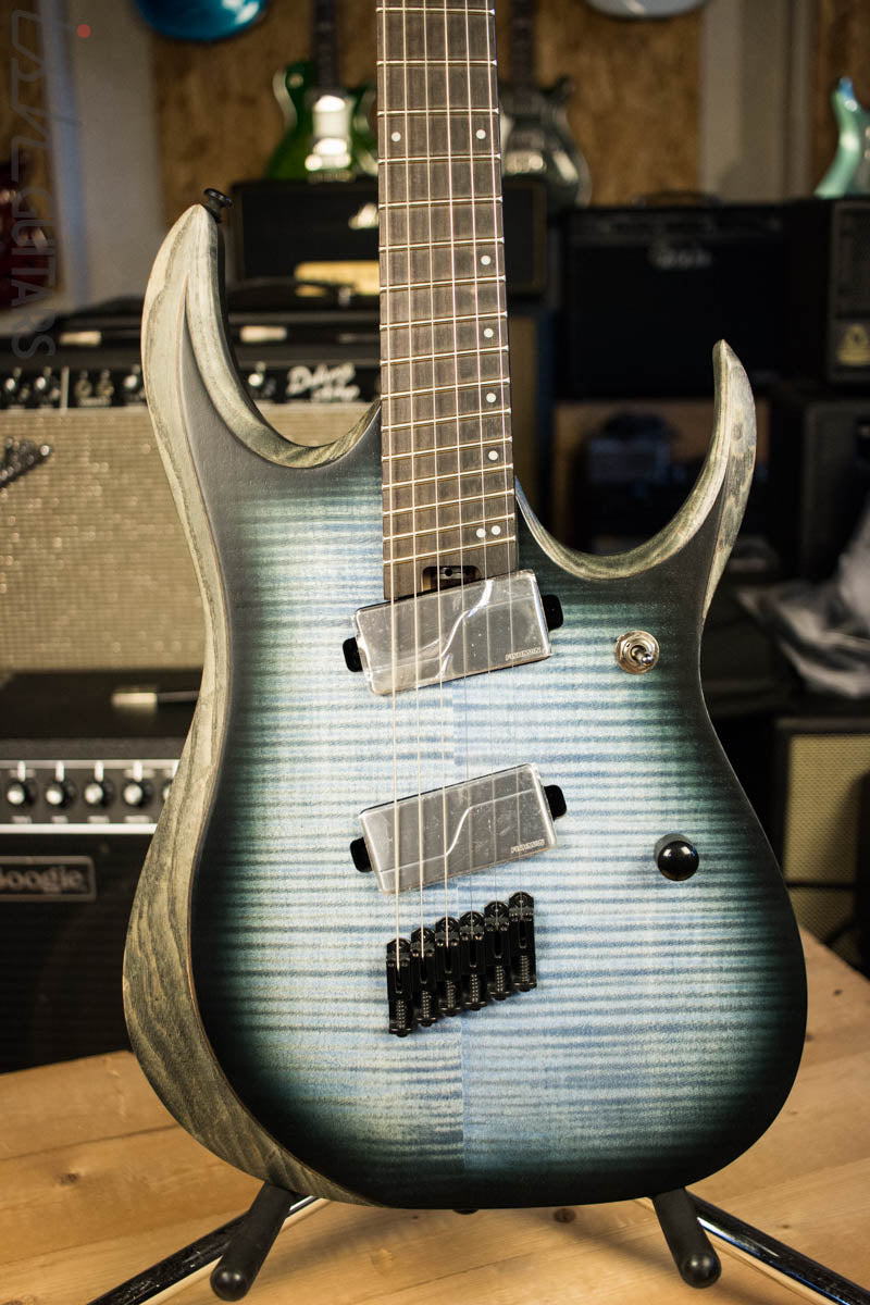 2018 Ibanez RGD RGDIM6FM Iron Label Multi-Scale Cerulean Blue