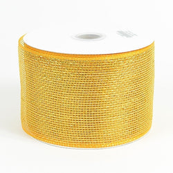 Light Gold 4 inch x 20 yards Two Toned Sparkle Deco Mesh Wreath Decorative Ribbon