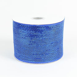 Royal Blue 4 inch x 20 yards Two Toned Sparkle Deco Mesh Wreath Decorative Ribbon