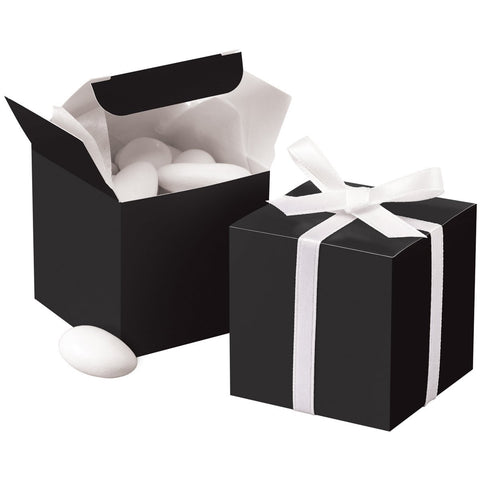 Black Square Favor Box Kit, 100 Count, 2 x 2 x 2 inches | kraft-klassics | Shop Now