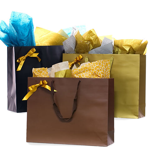 5 pack Giant Matte Gift Favor Party Wedding Gift Bag, 18 x 6 x 14 inches